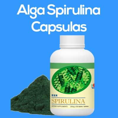 alga spirulina capsulas